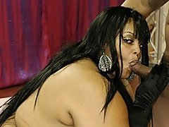 Ebony plumper Farrah Foxx is truly fucking huge!  She begins this...