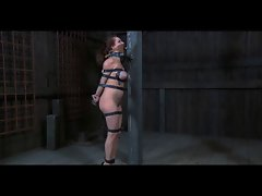 BDSM Slave Ashley Graham Chained and Whipped by Sado Master
