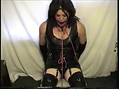 Little Miss Christi Chair Bondage wearing Rubber