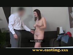 Casting - 18 with huge natural breasts and no clue
