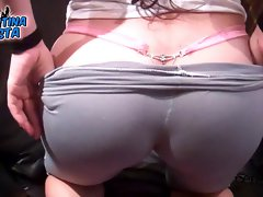 Beautiful Cameltoe - Beautiful Ass-Doggy Style Teen G-String