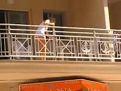 Voyeur 18, A babe no panties at her balcony