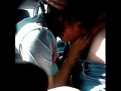 Blowjob and fuck in car