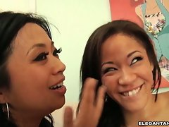 Jayla Starr and hot chick like white sperm on face
