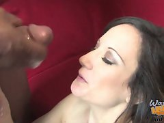 Stephanie Wylde shoot a load of warm cum in her mouth