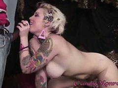 Tattooed tart Candy Monroe takes this dick like a slut