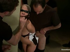Kristina Rose cleaning the hot guys head between legs