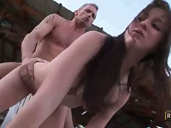 Jennifer Sloan babe get her ass fuck outdoor