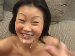 Lucy Lee double cock fucked and gets two loads on face
