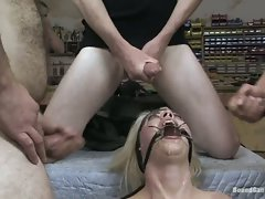 Lorelie Lee got tied and filled with cum on face