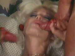 Pornstar Seka pounded and licked in hot threeway