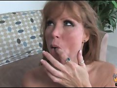 Darla Crane splooge on mouth with black guy's cummings