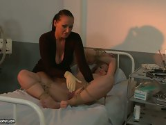 Kathia Nobili and Mandy Bright torture hot patient