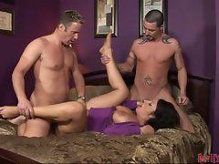 Vannah Sterling ripped off with two cocks