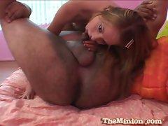 Shawna Lenee hottie blonde sucking a fat cock