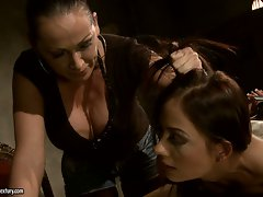 Mandy Bright a strict mistress punish a hot girl