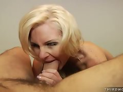 Phoenix Marie munches a nice hard cock stuffed in her wild mouth