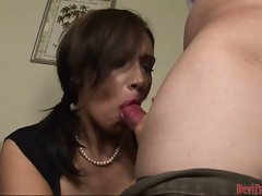 Hot and filthy Vannah Sterling lollipops a monstrous cock she truly enjoys