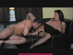 FemaleAgent Cocky casting gets dominated