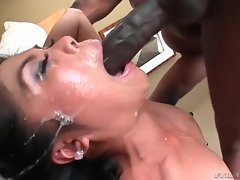 Super spit soaked blowjob for a black cock