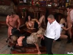 After work orgy in a bar