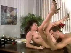 Sensual sex in retro office sex