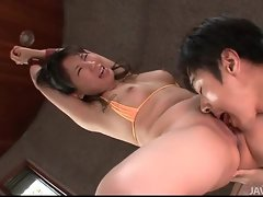 Hands bound on this pretty Japanese girl