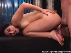 Adorable yet sultry Asian teen gets ass fucked