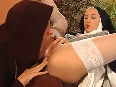 Nun and monk fuck in a hardcore video