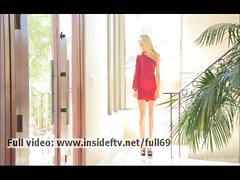 Emily _ Amateur blonde dancing and stripping on the music