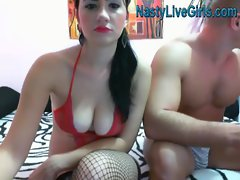 Hot Brunette suck live and fuck on webcam