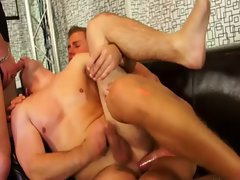Hard bi cocks fuck suck and cumshot orgy