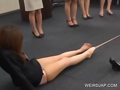 Fancy asians stripping stockings