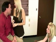 Milf teaches daughter to stimulate teacher