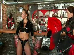 Domina spanks naughty ass