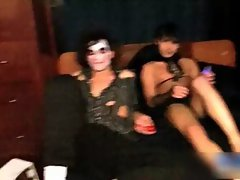 Aroused twinks having a costume party gay porn