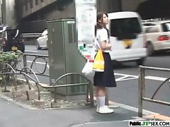 Outdoor Cute Japanese Girl Get Sex clip-14