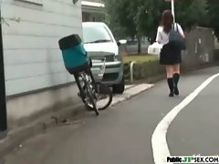 Outdoor Cute Japanese Girl Get Sex clip-11