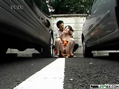 Outdoor Cute Japanese Girl Get Sex clip-37