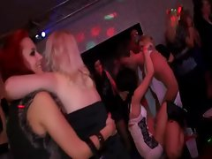 Blonde gets an ass pounding at cfnm party full of amateurs