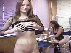 Pornstars prepares for action in backstage