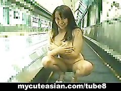Sexy Asian getting nice and naked