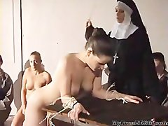 Babe Hard Spanked By Nun bdsm bondage slave femdom domination