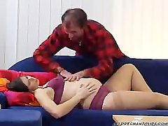 Prego Wife Fucks Friend Of Her Husband pregnant preg prego preggo