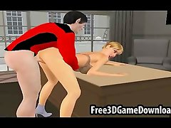 Sexy 3d cartoon babe with a beautiful body getting fucked