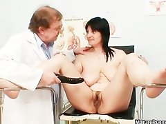 Horny doctor loves abusing a mature wife