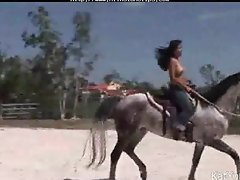 Topless Asian Teen Riding A Horse asian cumshots asian swallow japanese chinese