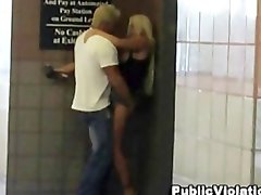 Couple filmed having sex in public