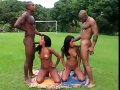 Brazilian 4some With Double Penetration