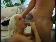 Hot, busty blonde babe trades head and gets her pussy fucked and toyed